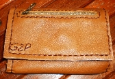hand stitched brown leather belt phone case handmade by brand G2P