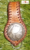 Custom made to order tan brown leather key ring fob for belt by G2P