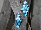 Light Blue Mussel Shell Dangle Earrings