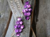 Purple Mussel Shell Dangle Earrings