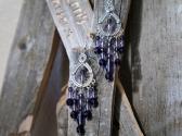 Grape Purple Chandelier Style Earrings