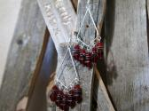 Red and Black Chandelier Style Earrings