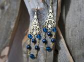 Blue Chandelier Style Earrings