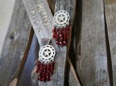 Red Star Chandelier Style Earrings