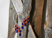 Denver Bronco Pride Dangle Ear Cuffs