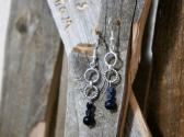 Blue Goldstone Dangle Earrings