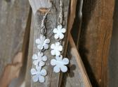 Bleached Mother of Pearl Flower Power Dangle Earrings