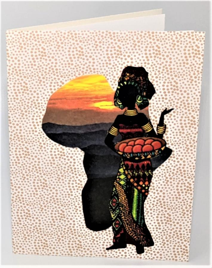To Market African Woman Greeting Card