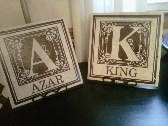 Fancy Monogram with Family Name Decal
