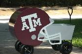 Custom All Wood Texas Aggie Helmet Wagon