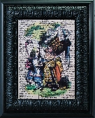 Alice and The Queen Of Hearts 8 x 10 Vintage Book Page Print