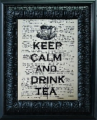 Keep Calm And Drink Tea 8 x 10 Vintage Book Page Print