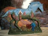 Custom Trail of the Painted Ponies Birdhouse Garden original and OOAKT
