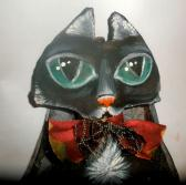 Witchs Cat art doll decoration