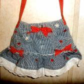 PurseAbility Purse OOAK made from Sesame Street skirt