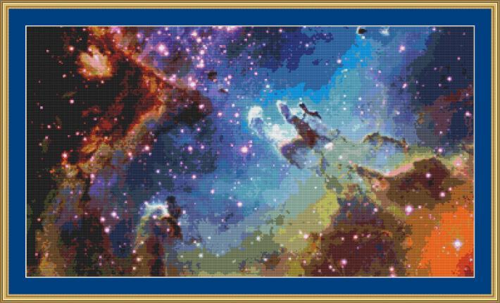 Nebula Cross Stitch Pattern