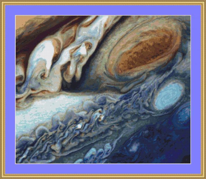 Storm On Jupiter Cross Stitch Pattern