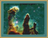 Eagle Nebula Cross Stitch Pattern