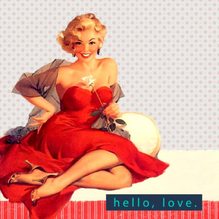 Hello Love Cross Stitch Pattern
