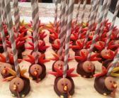 A Dozen Thanksgiving Turkey Cake Pops