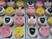 Barnyard Fondant Cupcake Toppers  One Dozen