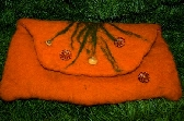 wonderful orange clutch