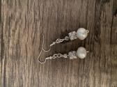 Goddess of Ivory Pearl Earrings