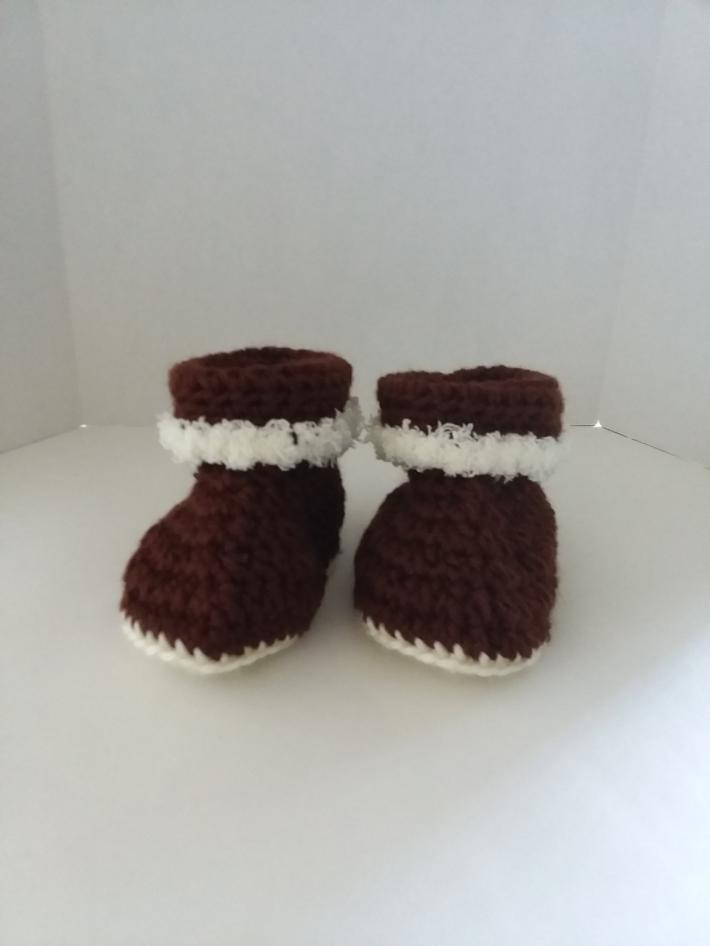 Brown Cuffed Baby Boots