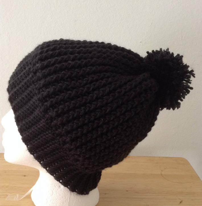 Black Ripple Hat