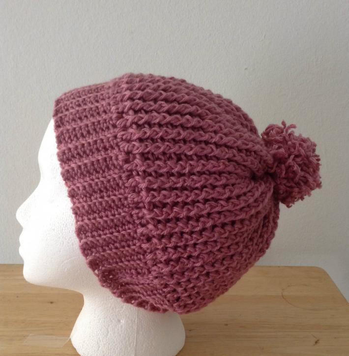 Dusty Rose Ripple Hat
