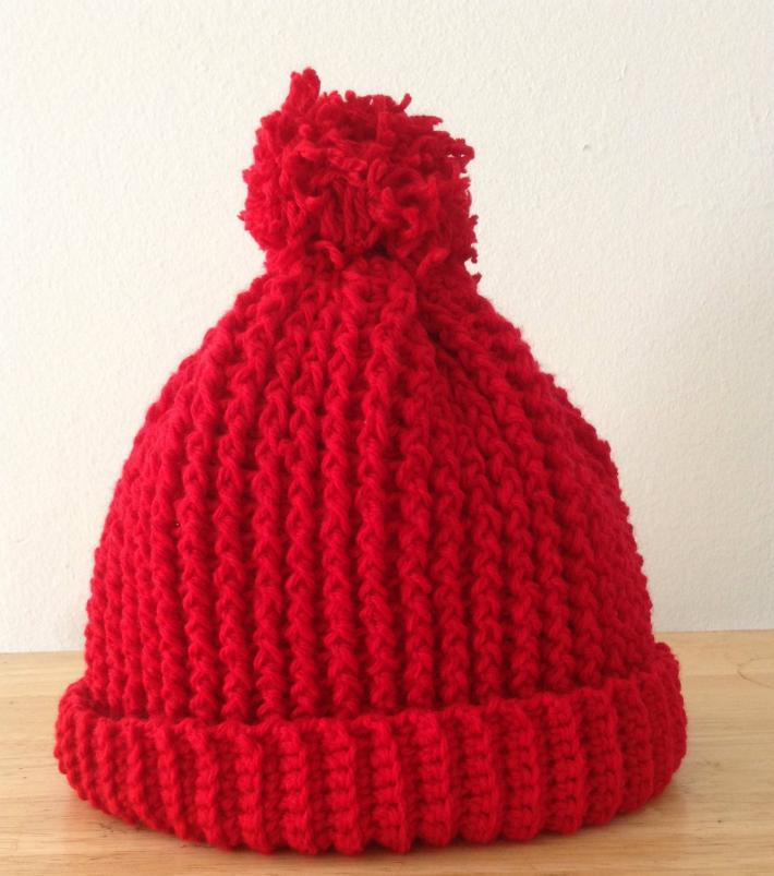 Red Ripple Hat