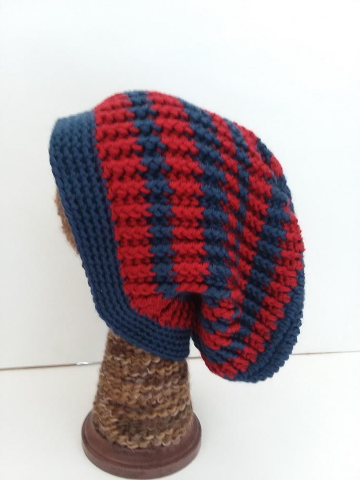 Red and Navy Beanie