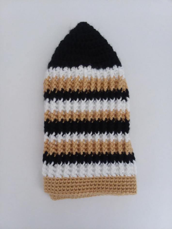 Black White and Gold Beanie