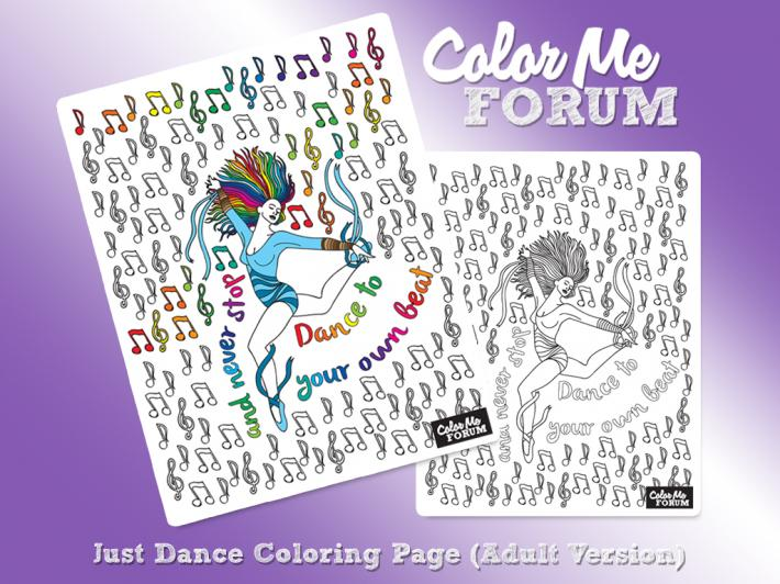 Just Dance Adult Coloring Page