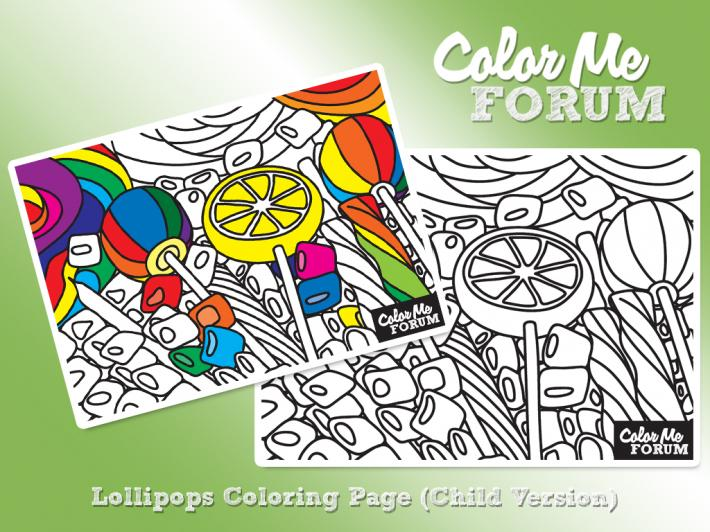 Lollipops Family Coloring Page Set