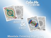 Mandala Family Coloring Page Set