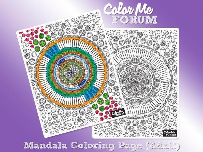 Mandala Family Coloring Page Set
