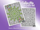 Daisy Mandala Coloring Page
