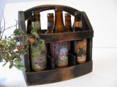 Wood 6 pack beer carrier Original beer boat