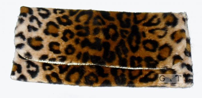Leopard Print Fur Clutch