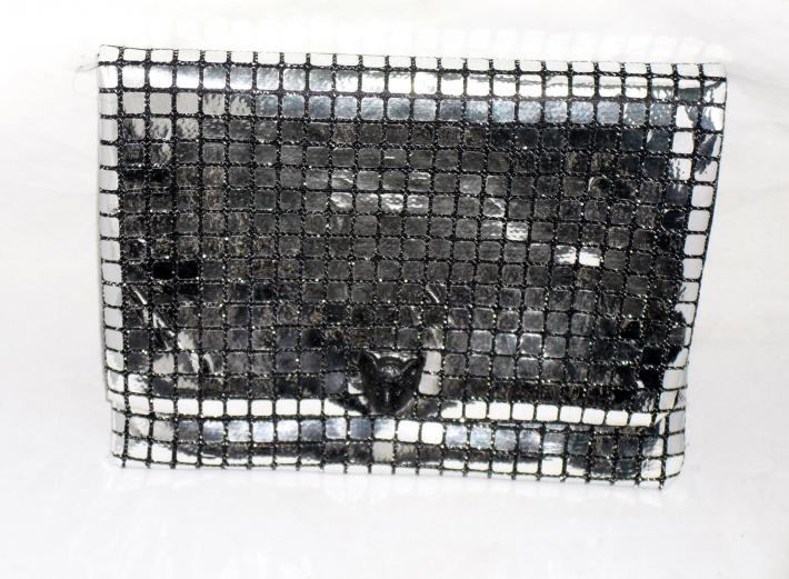 Black Panther Silver Clutch