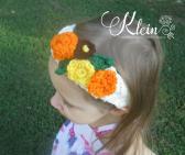 Crochet flower bloom headband