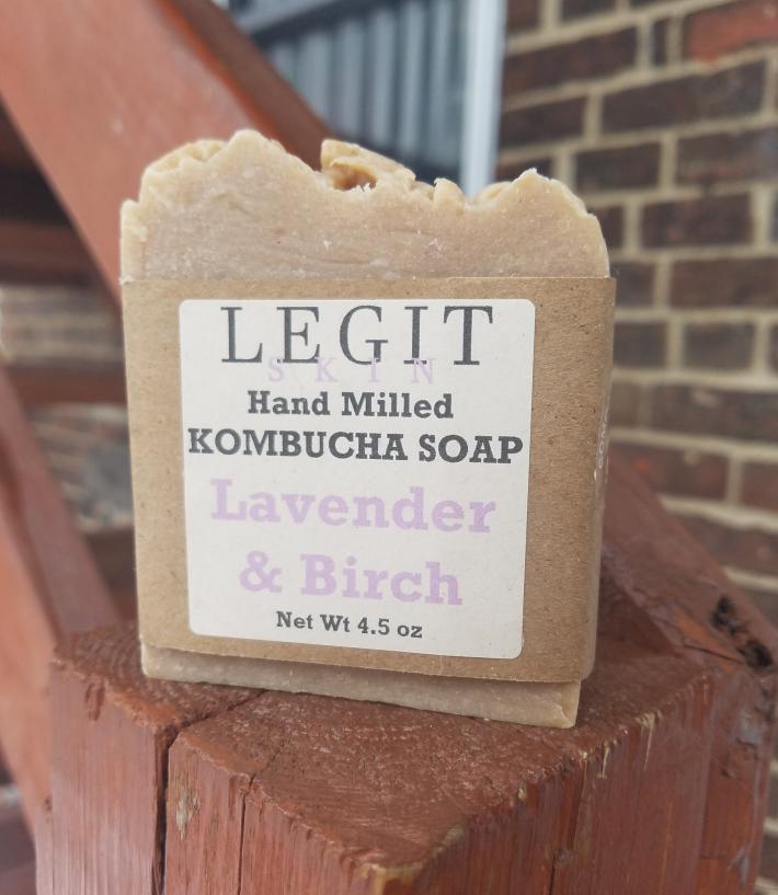 Hand Milled Kombucha Soap in Lavender Birch