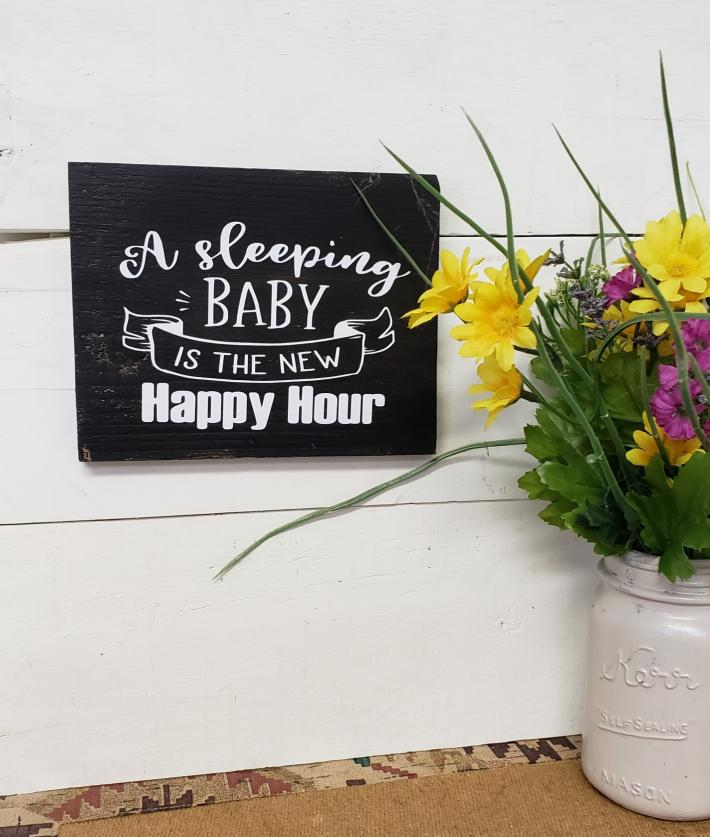 A Sleeping Baby is the New Happy Hour