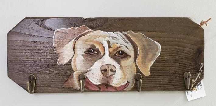 Pit Bull Smiling Key or Leash Rack