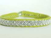 Lime Green Swedish Lapland Sami Leather Bracelet B12 Sami Large