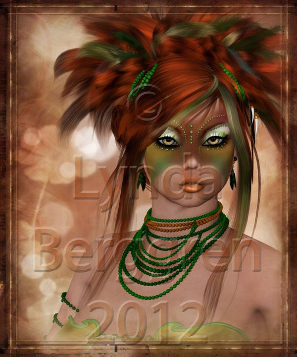Crazy Elf Girl Digital Art Print 8 x 10