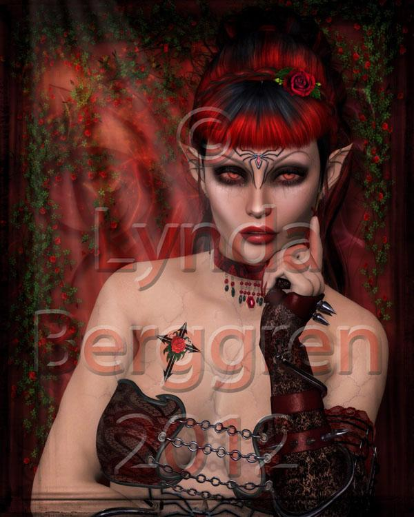 Dark Rose Digital Art Print 8 x 10
