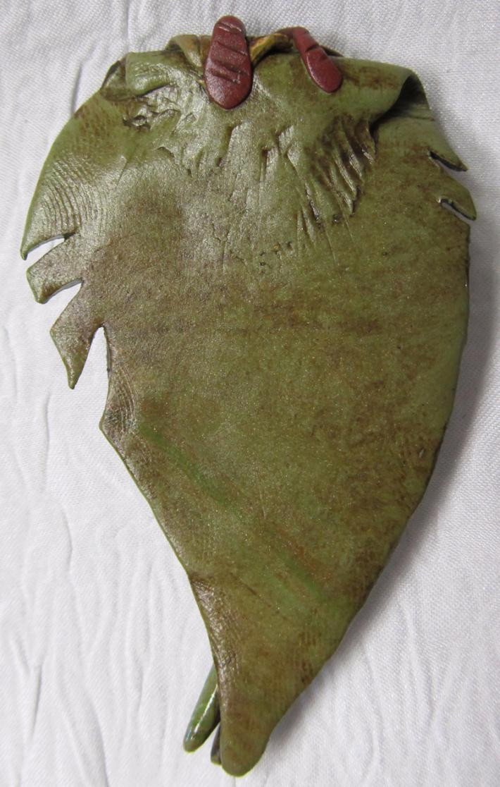 Boulder Opal Flower Polymer Hand Sculpted Pendant