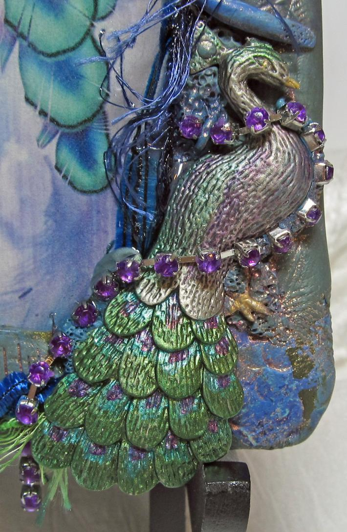 Peacock Fairy Digital Art Polymer Clay Picture